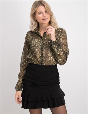 Geisha Blouse leopard with gold 03937-20