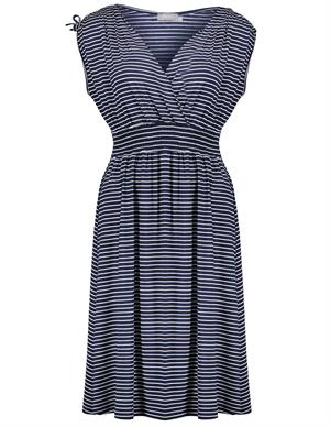 Geisha Dress stripe wrap sleevless 07351-60