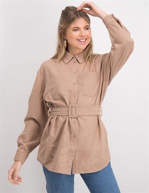 Nakd Oversized Wool Blend Shirt Jac 1018-006262-0005-