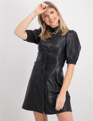 Nakd Puff Sleeve Shirt PU Dress Puf 1018-006303-0002-