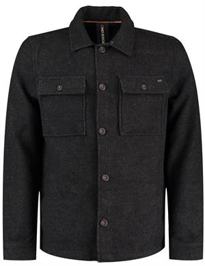 No Excess Overshirt Button Closure Twill With 12410813