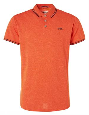 No Excess Polo, S/Sl, garment dyed melange ya 96370407