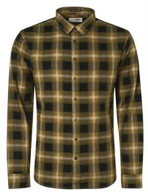 No Excess Shirt Flannel Check Herringbone Res 12430915