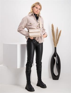 Only ONLEMILY HW ST ANK FAUX LEATHER PNT 15209293