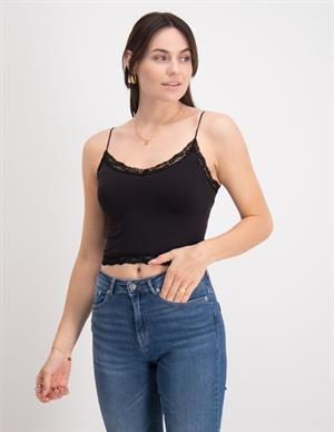Only ONLVICKY LACE SEAMLESS CROPPED TOP 15190175