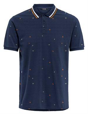 ONLY & SONS ONSKRIS LIFE SLIM SS AOP POLO 22020038