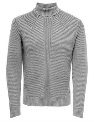ONLY & SONS ONSROLAND 7 STRUCTURE ROLL NECK KNI 22015033