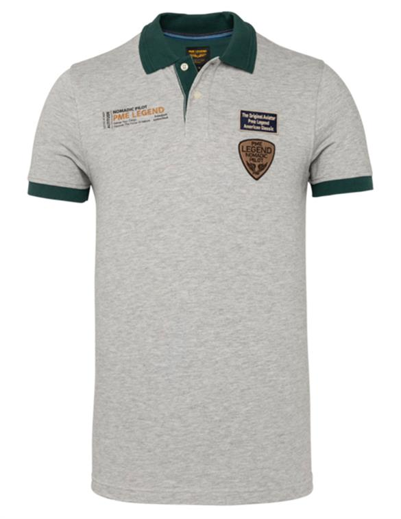 PME Legend Short sleeve polo two tone pique PPSS211858