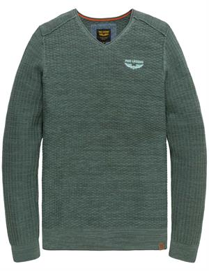 PME Legend V-neck cotton mouline knit PKW205300