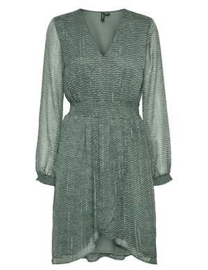 Vero moda VMNETTA L/S V-NECK SMOCK DRESS EXP 10250506